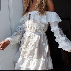 FL&L Carolina off shoulder mini dress